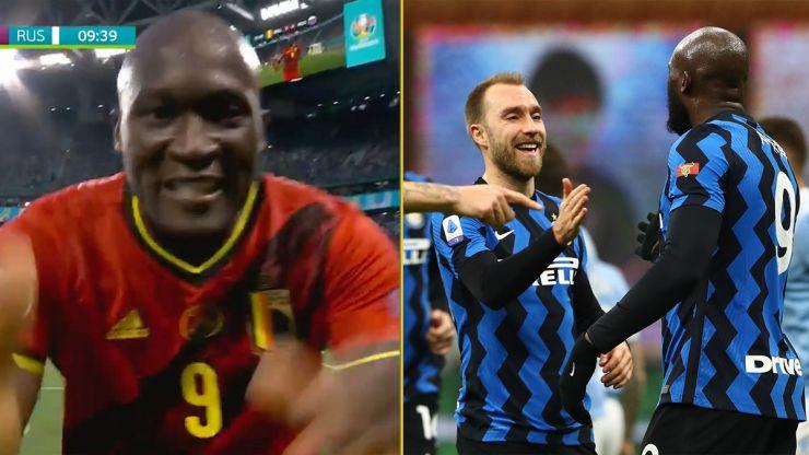 Romelu Lukaku sends message to Christian Eriksen after scoring for Belgium