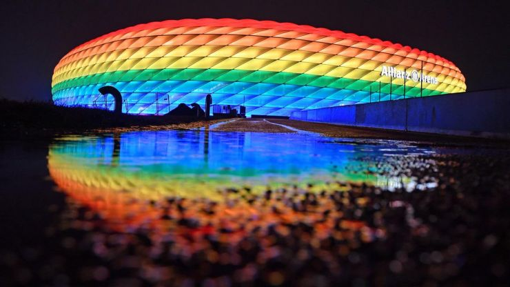Uefa rejects request for rainbow light display in protest against Hungary LGBTQ laws