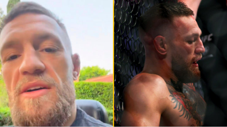 Conor McGregor says he was injured going into Dustin Poirier fight
