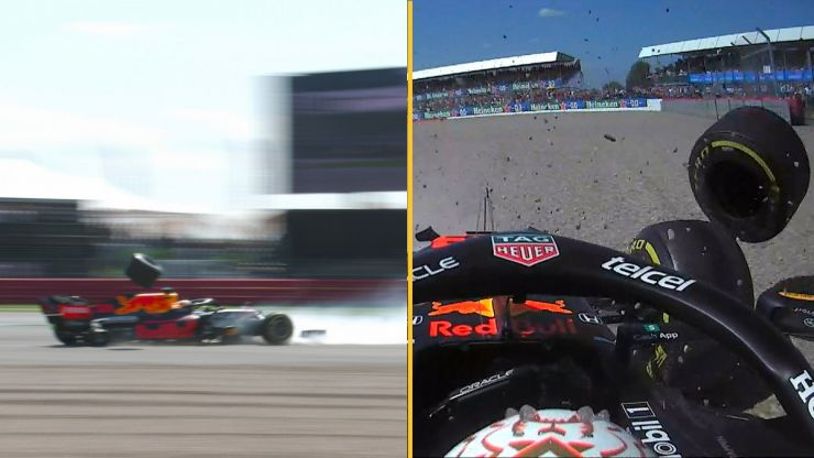 Lewis Hamilton slapped with penalty after big collision with Max Verstappen at Silverstone