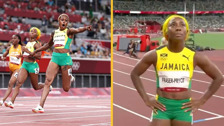 Jamaica teammates are as frosty after Thompson-Herah's history-making 100m win