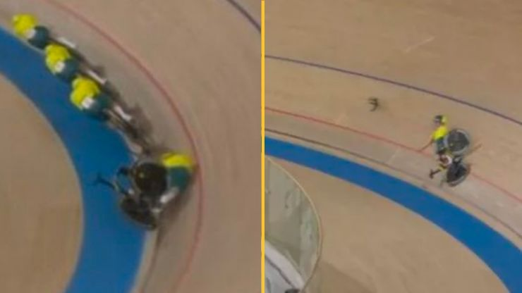 Aussie cyclist involved in bizarre crash after handlebars fall off bike
