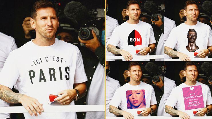 FootballJOE Photoshop Challenge #4: Lionel Messi's PSG t-shirt