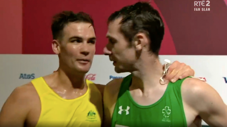 """""""The GOAT of Paralympics. We all look up to this guy"""" - Michael McKillop leaves a legend"""