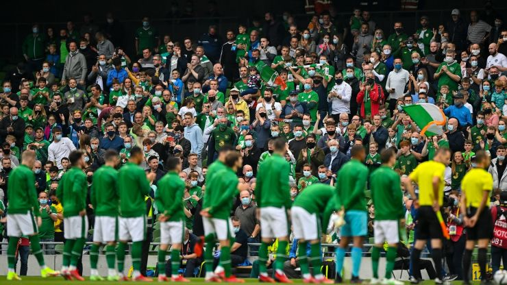 Hearing the fans singing Amhrán na bhFiann for the first time in two years was spine tingling