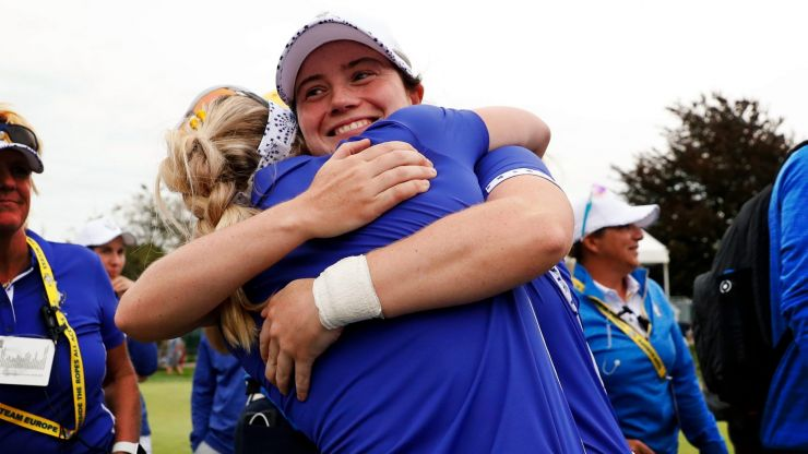 Leona Maguire creates Solheim Cup history after blitzing Team USA