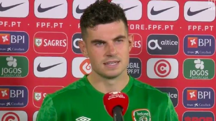 """Ireland's John Egan admits that it was """"heartbreaking"""" to not get a result against Portugal"""
