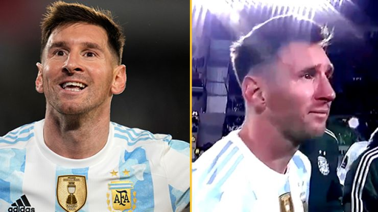 Lionel Messi breaks down in tears after Argentina win