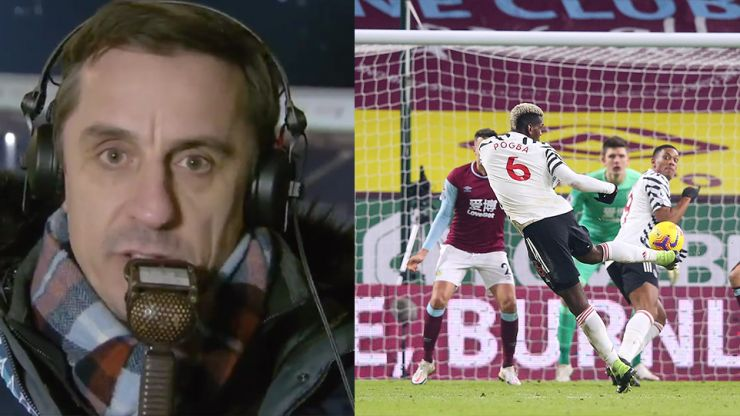 Gary Neville apologises for his commentary during Burnley vs Man United