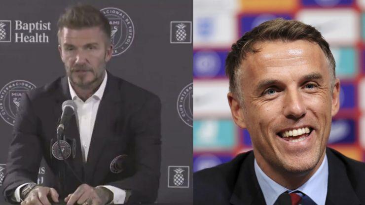 David Beckham says Phil Neville got Miami job on merit, not because they were friends