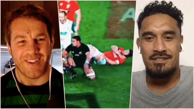 Sean O'Brien and Jerome Kaino re-live tackle that left the Irishman in a sling