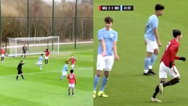 Man City U18s let Man United score after mix-up over throwing ball back after injury