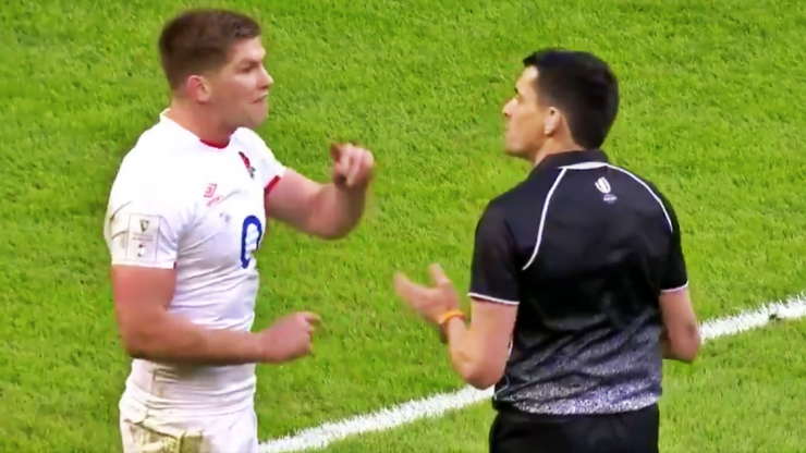 Owen Farrell rages at referee Pascal Gauzere as Wales catch England sleeping