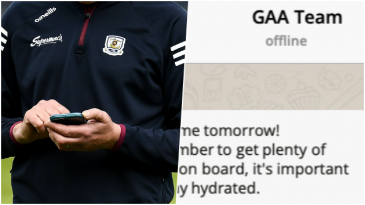 All the WhatsApp messages you missed from your GAA group chat yesterday